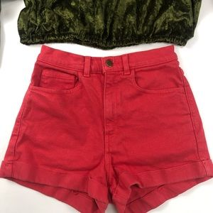RED CLASSIC AMERICAN APPAREL SHORTS SIZE 26/27